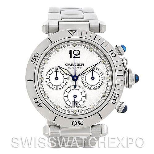 2507 Cartier Pasha Chronograph Automatic Watch W31030H3 SwissWatchExpo