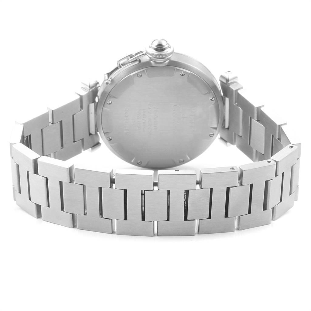 Cartier Pasha C Midsize 35mm Black Dial Steel Mens Watch W31043M7 SwissWatchExpo