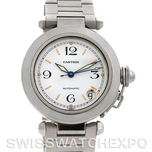 Photo of Cartier Pasha C Men's Steel Watch Silver Dial W31074m7