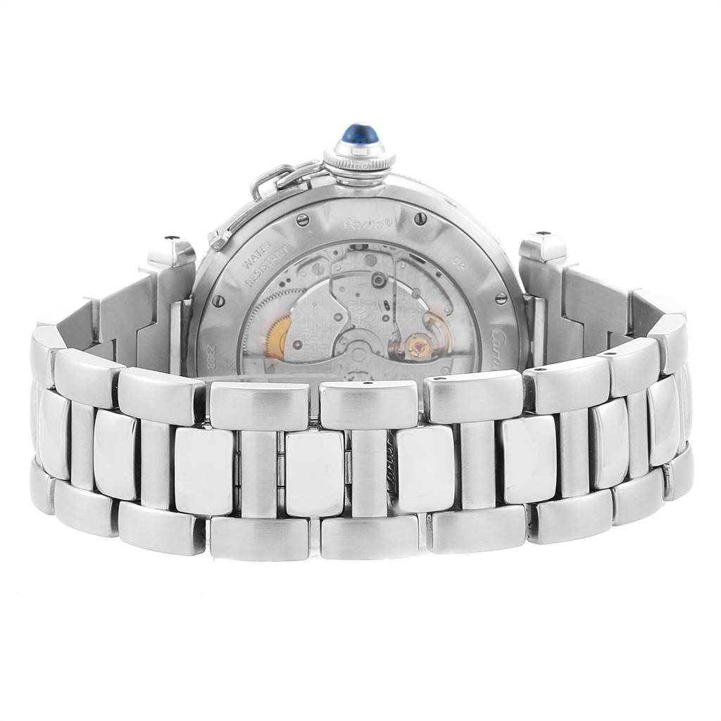 16323 Cartier Pasha Power Reserve GMT Automatic Mens Watch W31037H3 SwissWatchExpo
