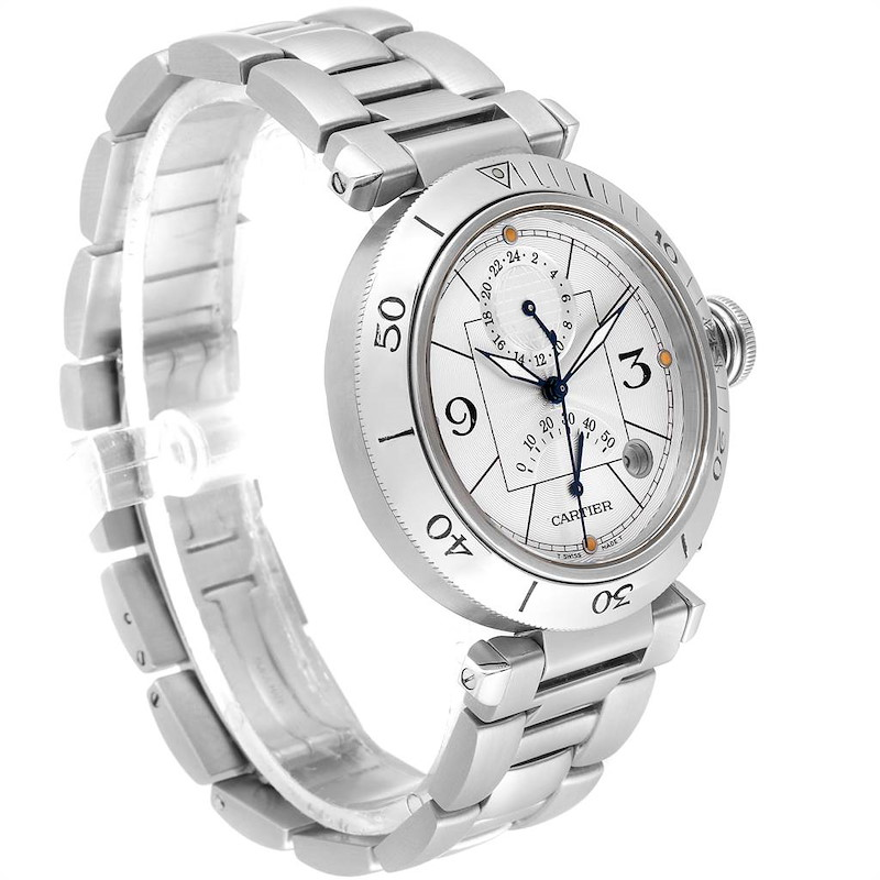 Cartier Pasha Power Reserve GMT Automatic Mens Watch W31037H3 SwissWatchExpo