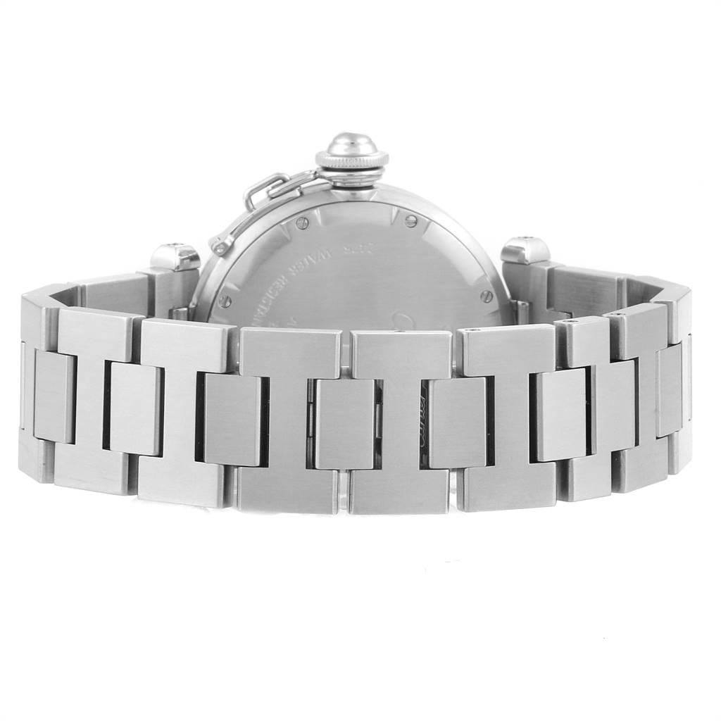 Cartier Pasha C Midsize 35 Large Date Steel Unisex Watch W31044M7 SwissWatchExpo