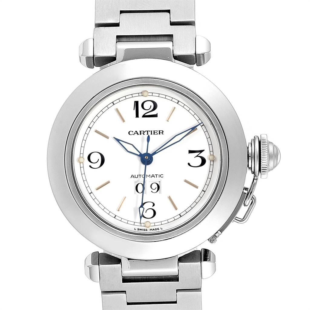 Photo of Cartier Pasha C Midsize 35mm Big Date Automatic Steel Watch W31044M7