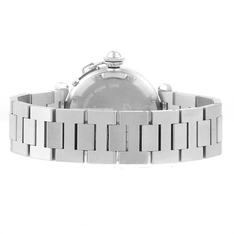 Cartier Pasha C Midsize Big Date Automatic Steel Unisex Watch W31044M7 SwissWatchExpo