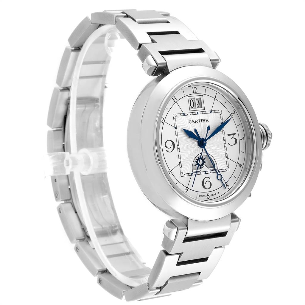 Cartier Pasha XL Big Date MoonPhase Steel Mens Watch W31093M7 SwissWatchExpo