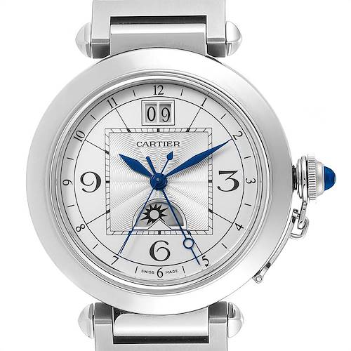 Photo of Cartier Pasha XL Big Date MoonPhase Steel Mens Watch W31093M7