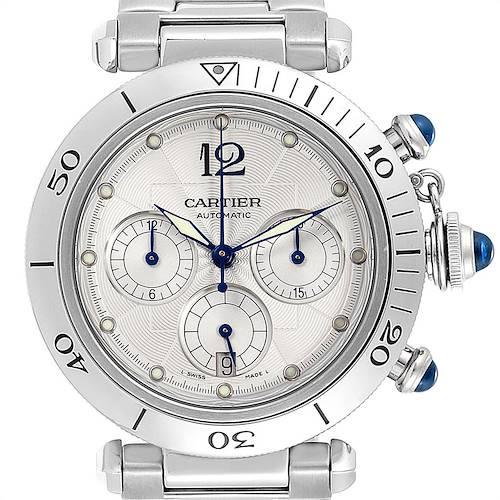 Photo of Cartier Pasha Seatimer Chronograph Steel Mens Watch W31030H3