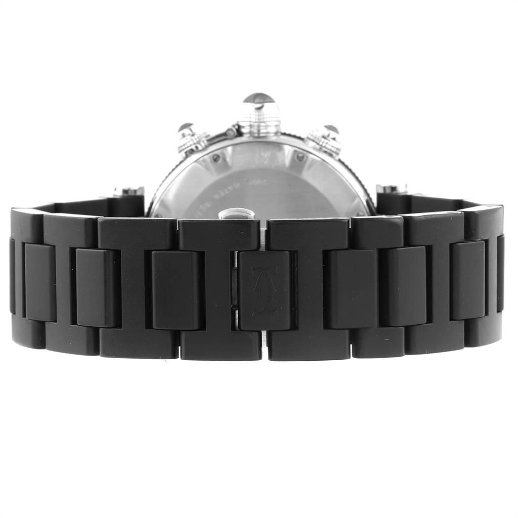 25154 Cartier Pasha Seatimer Chronograph Rubber Strap Watch W31088U2 Box SwissWatchExpo