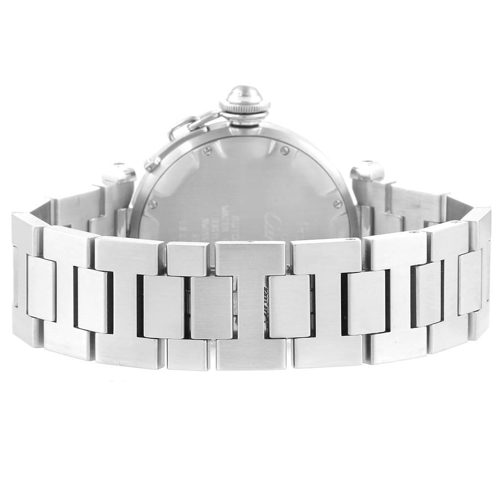 Cartier Pasha C White Dial Automatic Steel Unisex Watch W31044M7 SwissWatchExpo