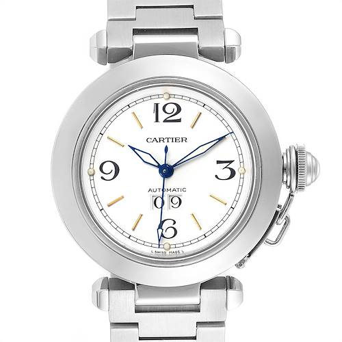 Photo of Cartier Pasha C Midsize White Dial Steel Unisex Watch W31044M7
