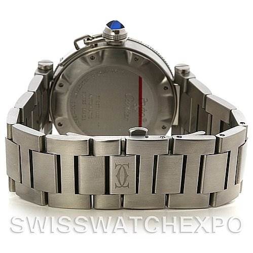 2676 Cartier Pasha Seatimer Steel Watch W31080M7 year 2009  SwissWatchExpo