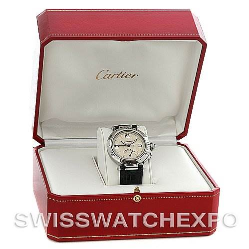 2747 Cartier Pasha Power Reserve 38 Mm Stainless Steel Watch SwissWatchExpo