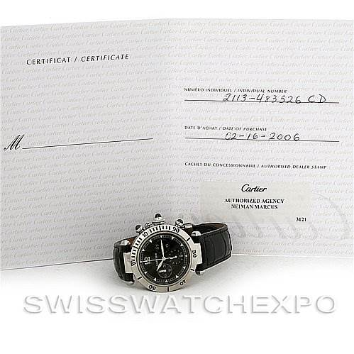2876 Cartier Pasha Millennium Edition Platinum Bezel Watch W3105155 SwissWatchExpo
