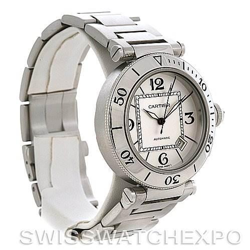 2924 Cartier Pasha Seatimer Steel Watch W31080M7 SwissWatchExpo