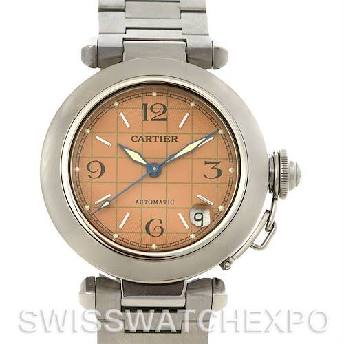 Photo of Cartier Pasha C Automatic Steel Pink Dial W31075M7 Watch
