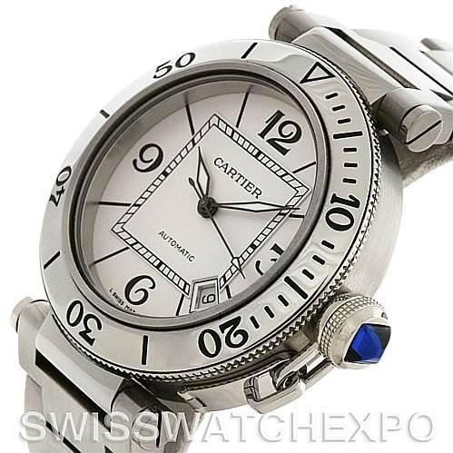 2676A Cartier Pasha Seatimer Steel Watch W31080M7 year 2009  SwissWatchExpo