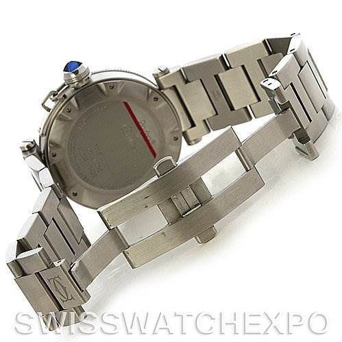 Cartier Pasha Seatimer Steel Watch W31080M7 year 2009 SwissWatchExpo