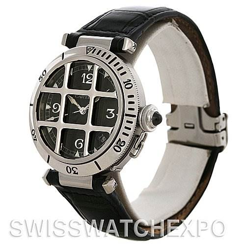 4250 Cartier Pasha Grille 38.0 mm Watch W3105255 SwissWatchExpo