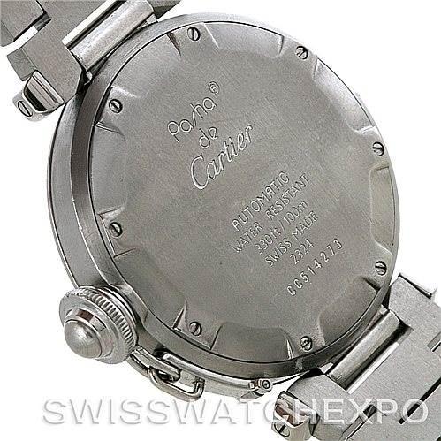 Cartier Pasha C Midsize Steel Watch W31043M7 SwissWatchExpo