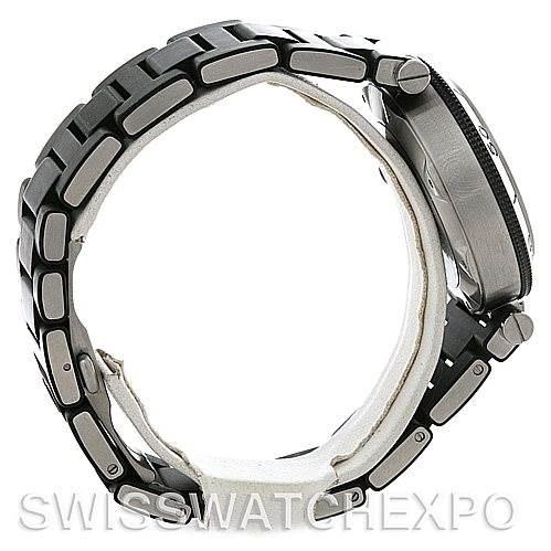 4412 Cartier Pasha Seatimer Steel Rubber Mens Watch W31077U2 SwissWatchExpo