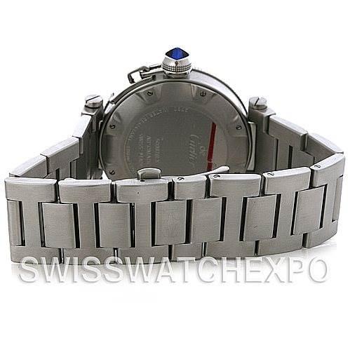 4441 Cartier Pasha Seatimer Steel Watch W31080M7 SwissWatchExpo