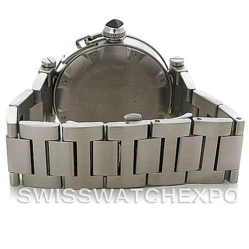 4456 Cartier Pasha Seatimer Steel Watch W31077M7 SwissWatchExpo