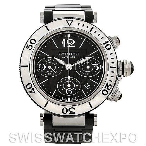 4528 Cartier Pasha Seatimer Chronograph Mens Watch W31088U2 SwissWatchExpo
