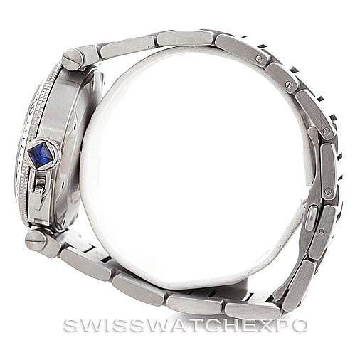 6285 Cartier Pasha Seatimer Steel Watch W31080M7 SwissWatchExpo