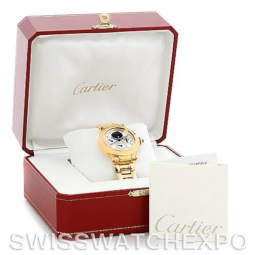 5627 Cartier Pasha Leap Year Perpetual Calendar 18K Yellow Gold Watch SwissWatchExpo