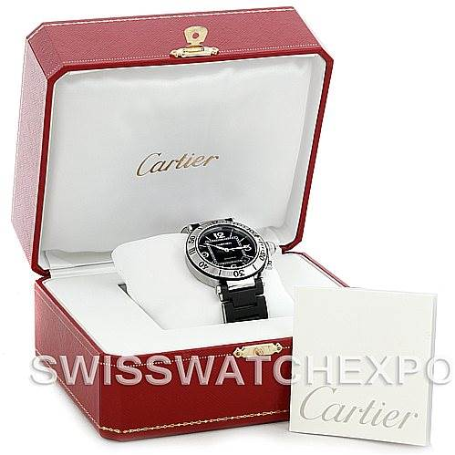 5660 Cartier Pasha Seatimer Mens Watch W31077U2 SwissWatchExpo