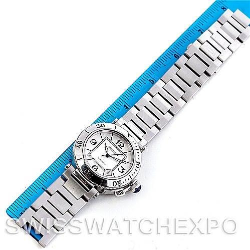 5746 Cartier Pasha Seatimer Steel Watch W31080M7 SwissWatchExpo