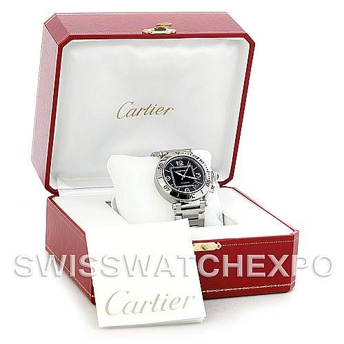 5777 Cartier Pasha Seatimer Steel Watch W31077M7 SwissWatchExpo