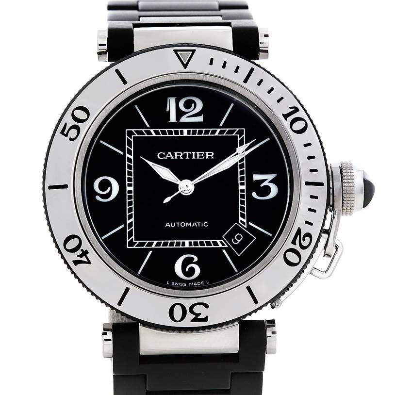 5824 Cartier Pasha Seatimer Mens Watch W31077U2 SwissWatchExpo