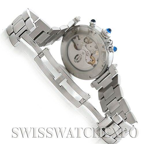 5844 Cartier Pasha Seatimer Chronograph Steel Mens Watch W31030H3 SwissWatchExpo
