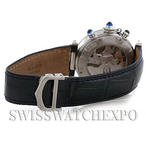 Cartier Pasha Seatimer Chronograph Steel Mens Watch W3103055 SwissWatchExpo