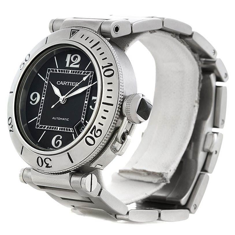 Cartier Pasha Seatimer Steel Watch W31077M7 SwissWatchExpo