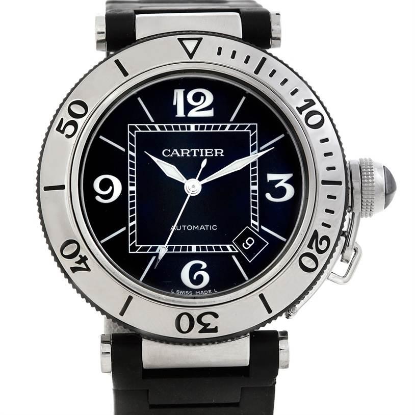 5980 Cartier Pasha Seatimer Mens Watch W31077U2 SwissWatchExpo