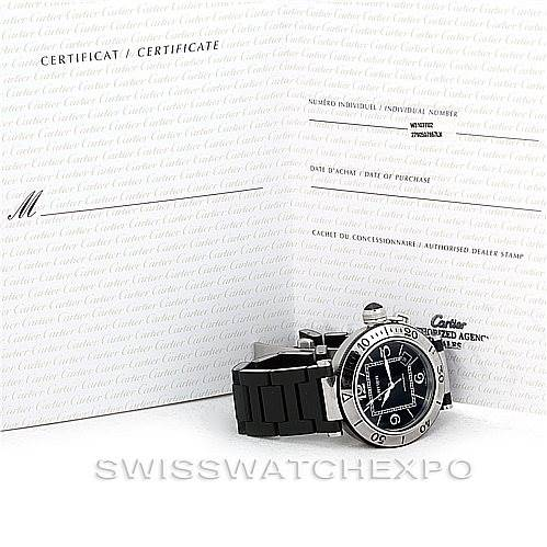 6126 Cartier Pasha Seatimer Mens Watch W31077U2 SwissWatchExpo