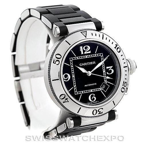 6296 Cartier Pasha Seatimer Mens Watch W31077U2 SwissWatchExpo