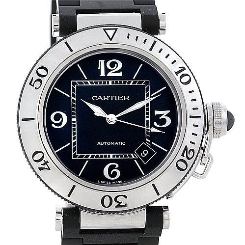 7098 Cartier Pasha Seatimer Mens Watch W31077U2 SwissWatchExpo