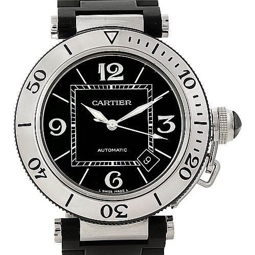 7486 Cartier Pasha Seatimer Mens Watch W31077U2 SwissWatchExpo