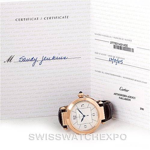 7828 Cartier Pasha 18K Rose Gold Mens Watch W3019051 SwissWatchExpo