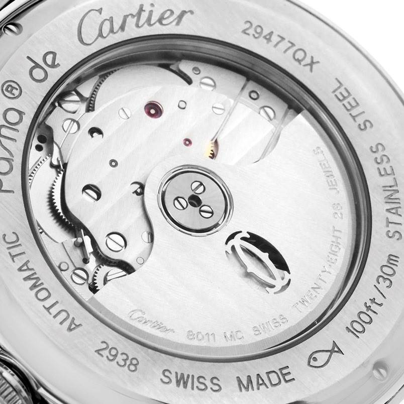 7882 Cartier Pasha Big Date MoonPhase Mens Watch W31093M7 Box Papers SwissWatchExpo