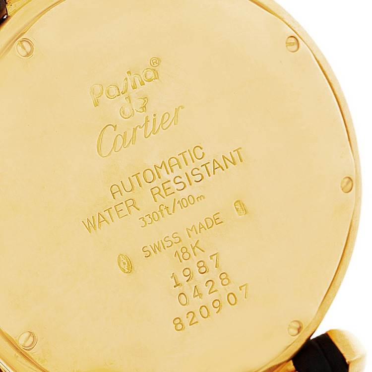 Cartier Pasha 38mm 18K Yellow Gold Automatic Mens Watch SwissWatchExpo