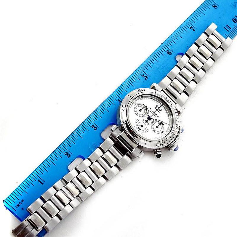 Cartier Pasha Chronograph Steel Mens Watch W31030H3 SwissWatchExpo