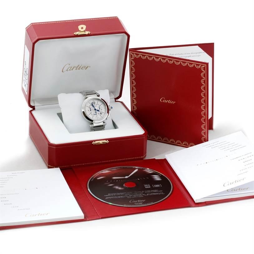 8796 Cartier Pasha 42 mm Chrono Mens Watch W31085M7 Unworn SwissWatchExpo