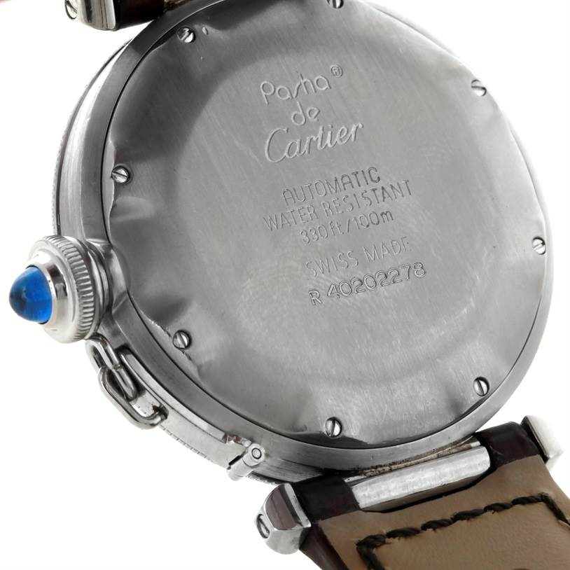 8478 Cartier Pasha 38mm Stainless Steel Automatic Watch SwissWatchExpo