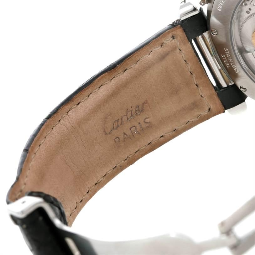 9289 Cartier Pasha Millennium Edition Platinum Bezel Watch W3105155pr NOS SwissWatchExpo