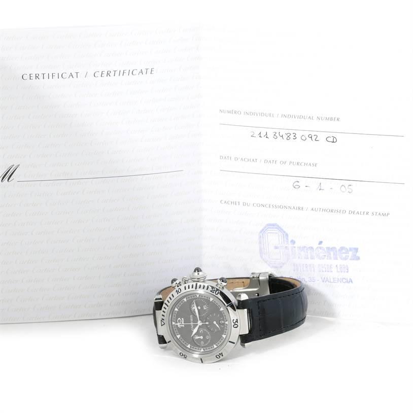9287 Cartier Pasha Millennium Edition Platinum Bezel Watch W3105155 NOS SwissWatchExpo