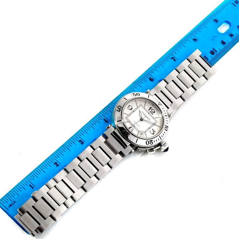Cartier Pasha Seatimer Stainless Steel Watch W31080M7 SwissWatchExpo